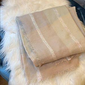 Pink Knit Blanket Scarf